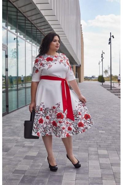 Платье 799-01 белое
