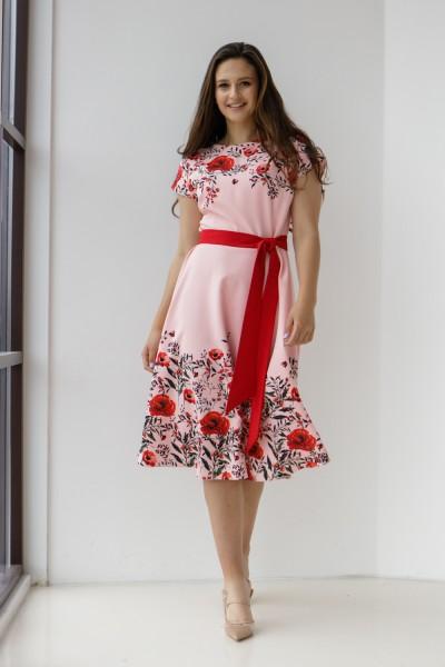 Платье 599/1-03 цвет пудра