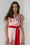 Плаття 599/1-03 колір пудра