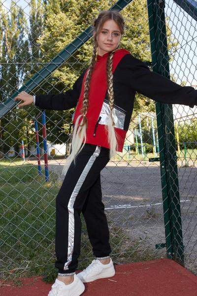 Спортивный костюм 122-02 черный