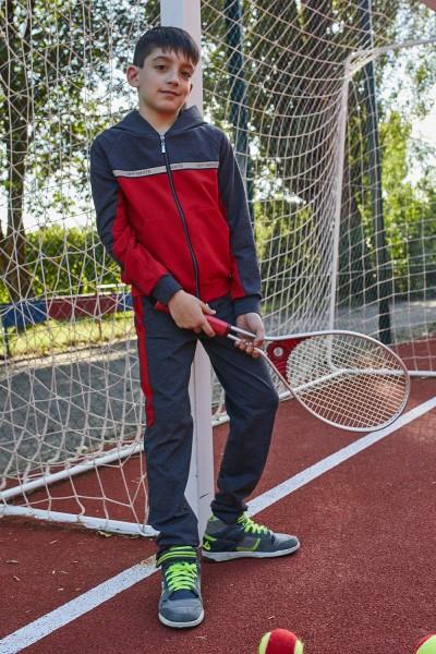 Спортивний костюм 126-01 сірий