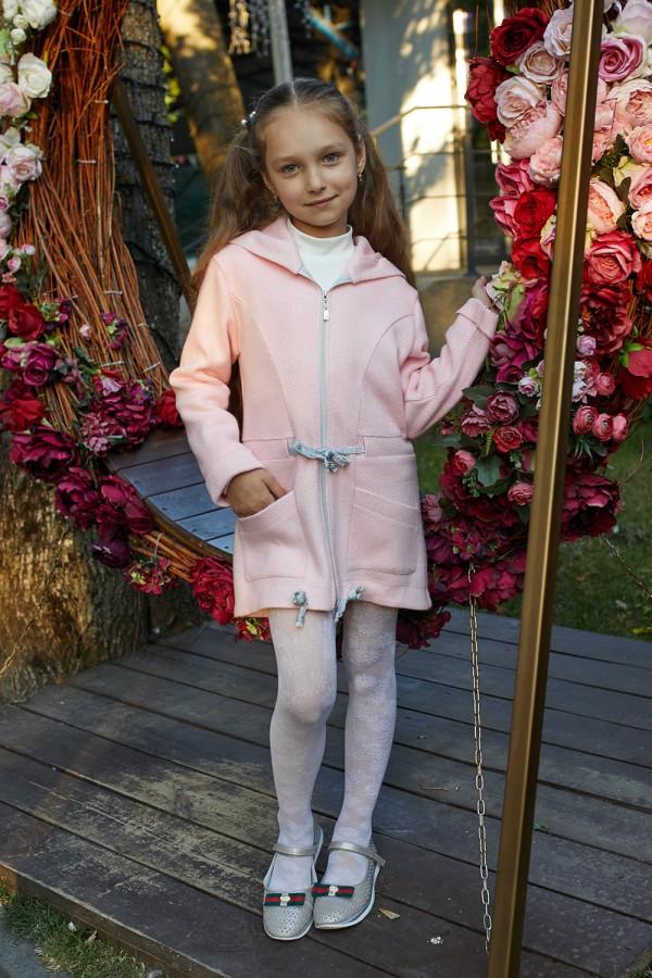 Дитячий кардиган 128-01 пудра