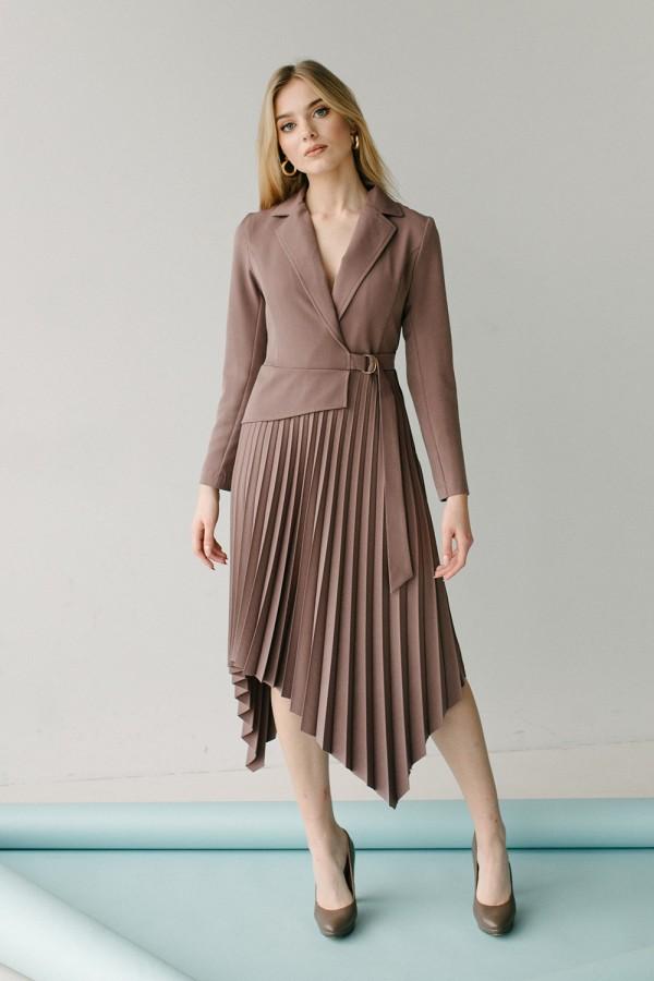 Красивое платье 171-01 латте