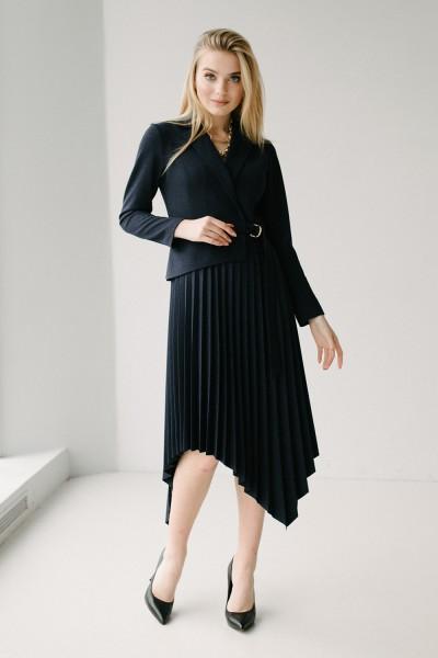 Красива сукня 171-03 темно синя