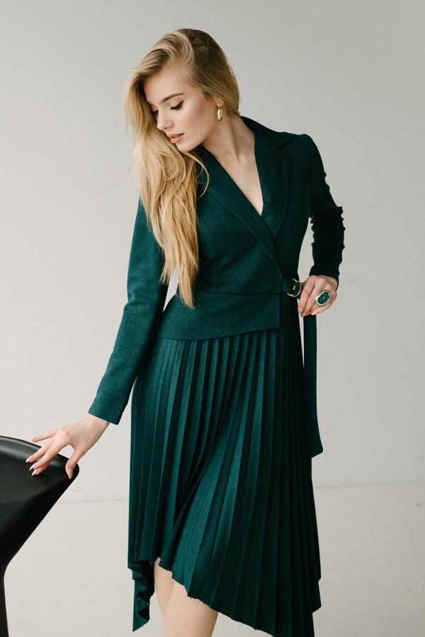 Красива сукня 171-02 смарагдова