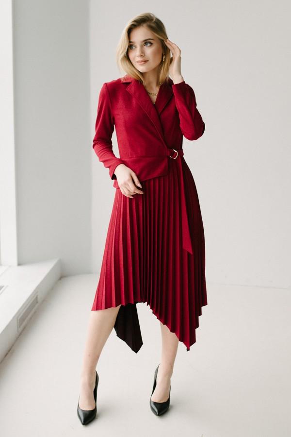 Красивое платье 171-05 бордо