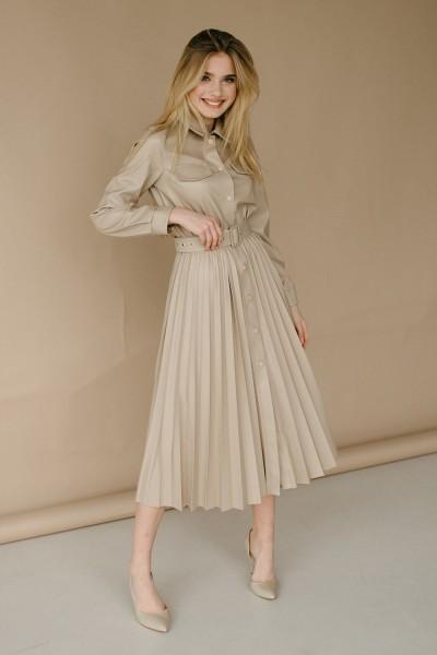 Красивое платье 172-01 бежева