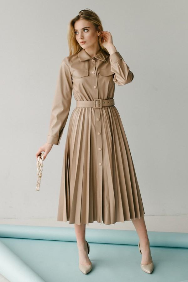 Красивое платье 172-02 латте