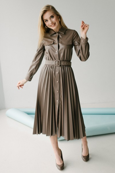 Красива сукня 172-03 шоколад