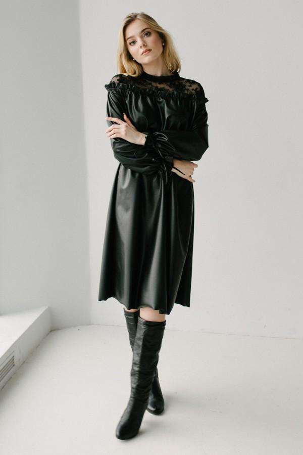 Красива сукня 173-01 чорна