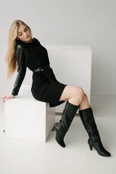 Красива сукня 175-01 чорна