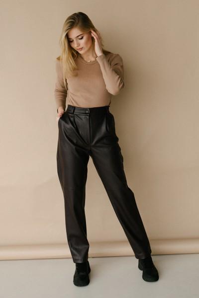 Красиві брюки 178-01 баклажан