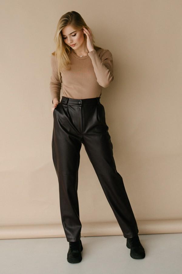 Красивые брюки 178-01 баклажан