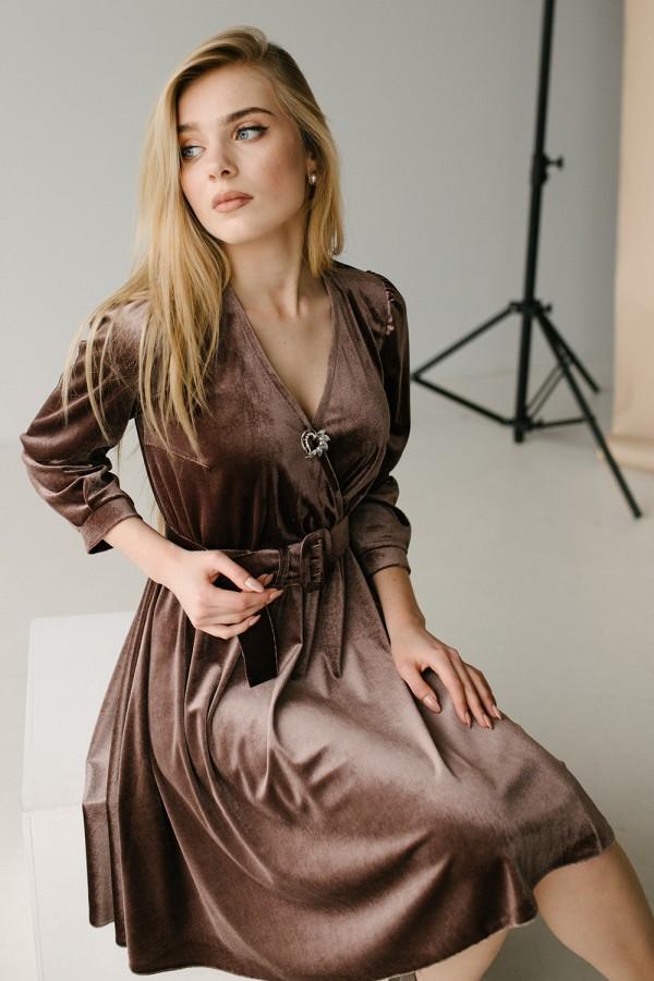 Красивое платье 180-01 медь