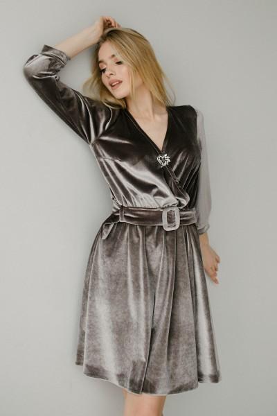 Красива сукня 180-03 срібло
