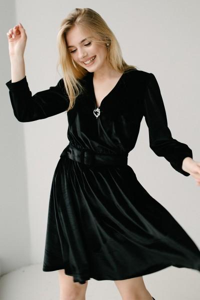 Красива сукня 180-01 чорна