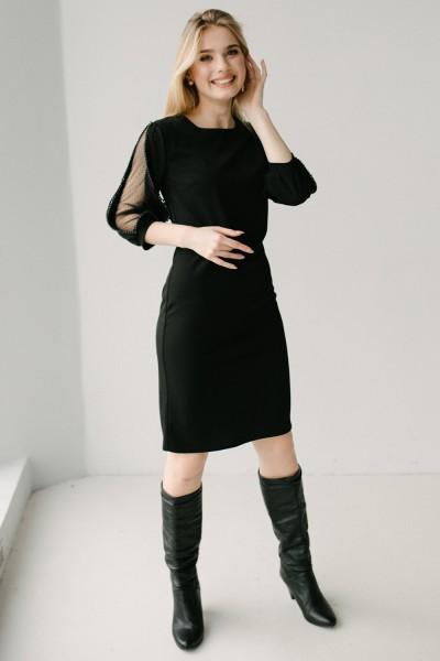 Красивое платье 184-01 черное