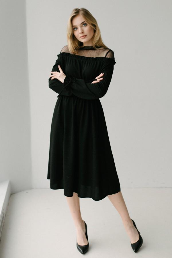 Красивое платье 173/1-01 черное