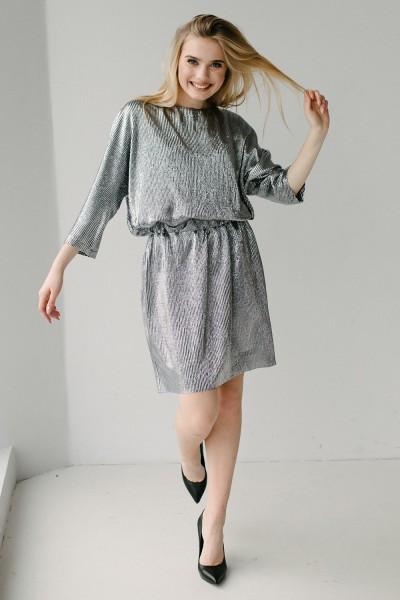 Красива сукня 633-01 срібна