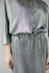 Красивое платье 633-01 серебристое
