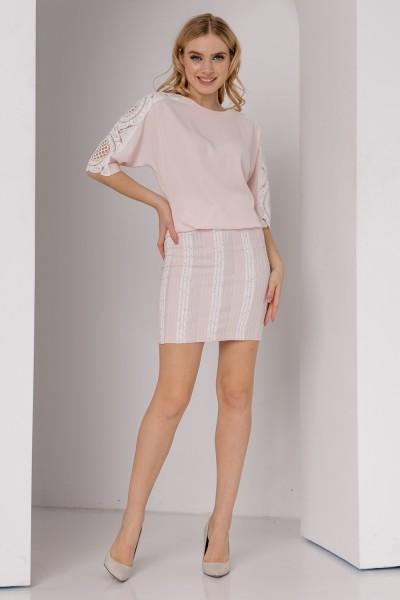 Плаття 554-01 в світло-рожевому кольорі