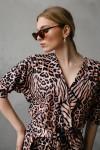 Женский леопардовый комбинезон 582-01