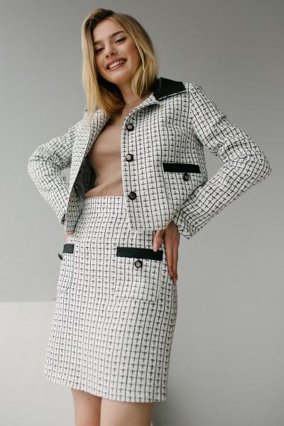 Женский костюм 188-01 черно-белый
