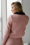 Нарядный женский розовый костюм 188-03