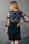 Платье 528-01 синее