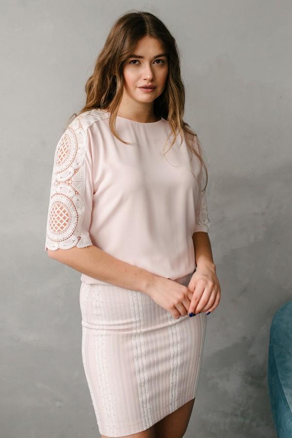 Платье 554-01 в светло-розовом цвете