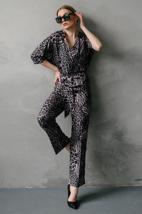 Женский леопардовый комбинезон 582-03