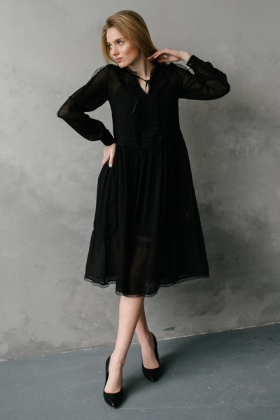 Платье 639/1-04 черное