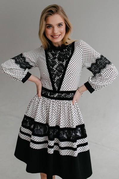 Платье 645-01 белое