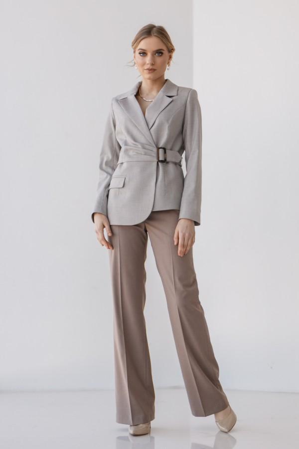 Женский костюм 196-05 кофейного цвета