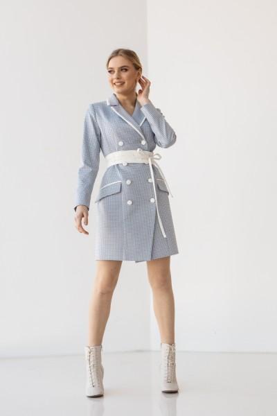 Платье 201-03 голубое