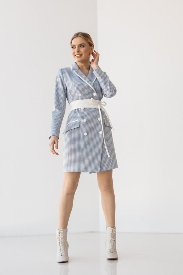 Платье 201-03 голубого цвета