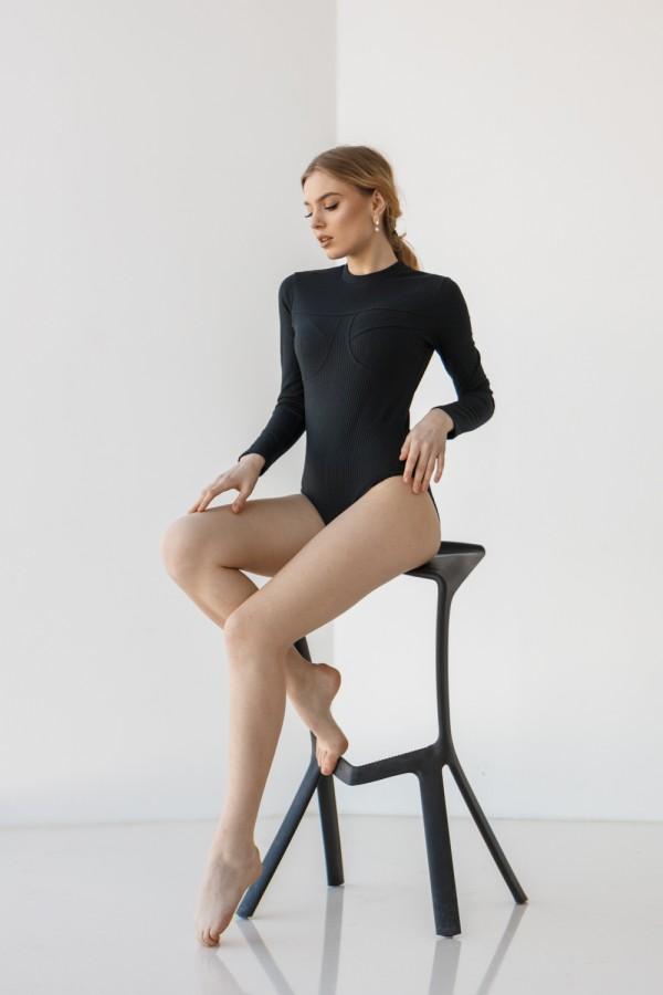 Женское черное боди 210-01