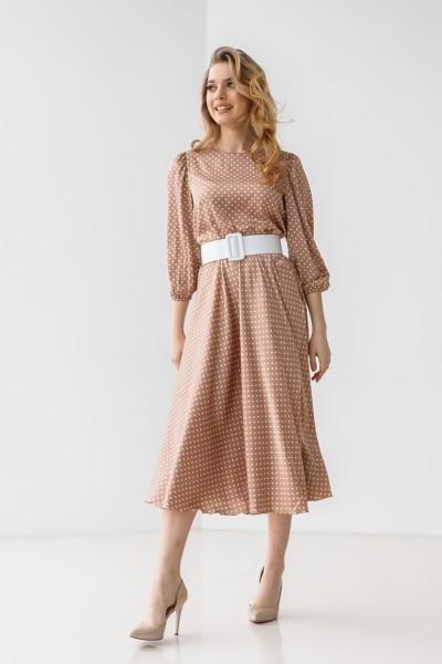 Платье 212-04 бежевое
