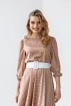 Плаття 212-04 бежевого кольору