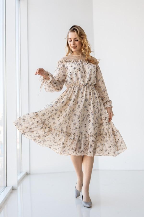 Платье 215-01 молочного цвета