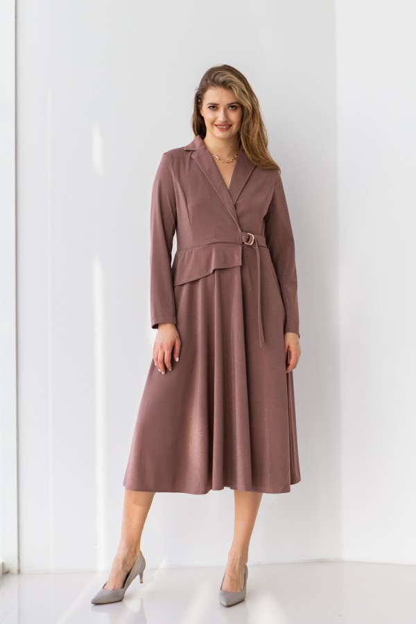 Платье 171/1-05 коричневое