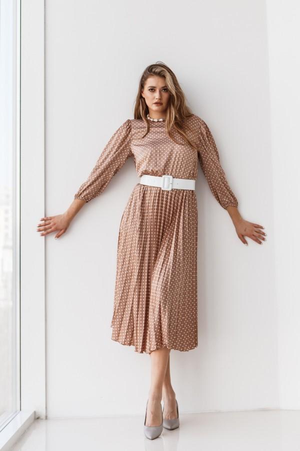 Платье 192-02 бежевое