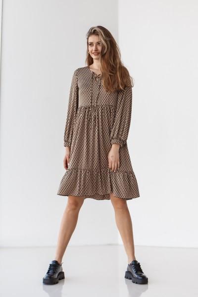 Плаття 216-01 коричневе