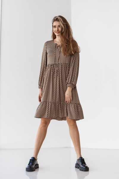 Платье 216-01 коричневое