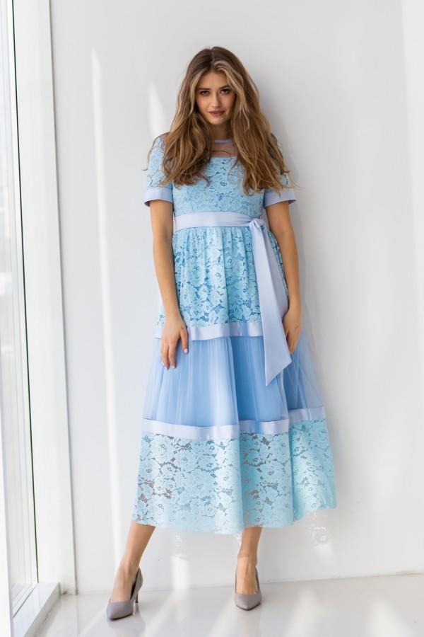 Плаття 458-01 блакитне