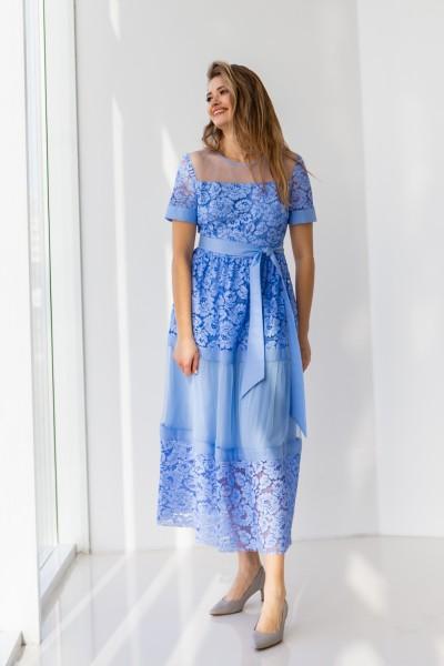 Платье 458-03 синее