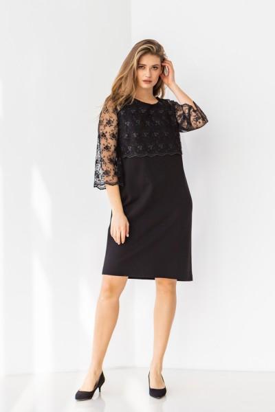 Плаття 606-02 чорне