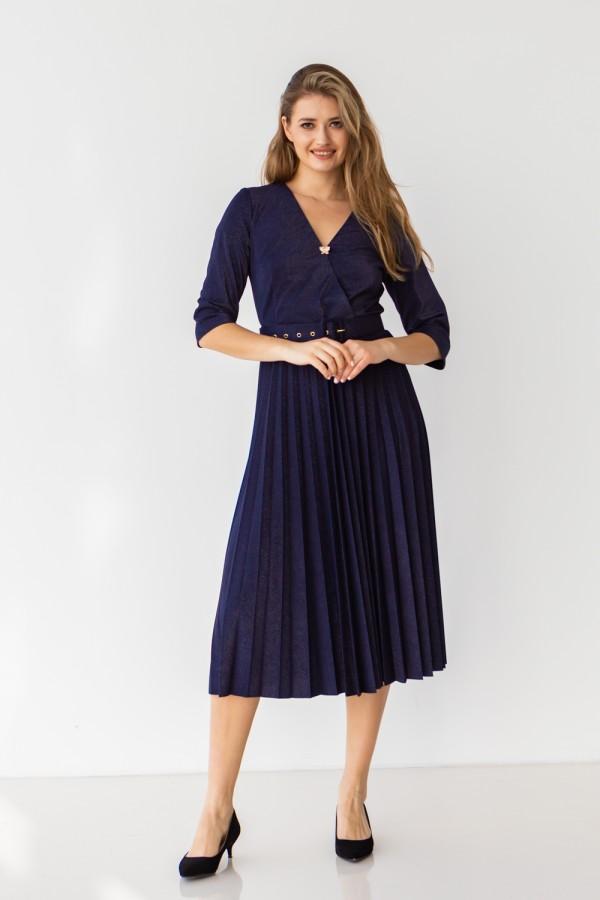Платье 667-05 темно синее