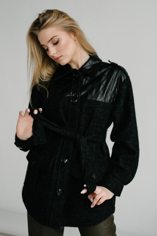 Куртка 162-01 чорна