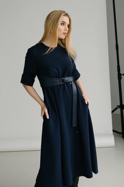 Красивое платье 165-03 синее